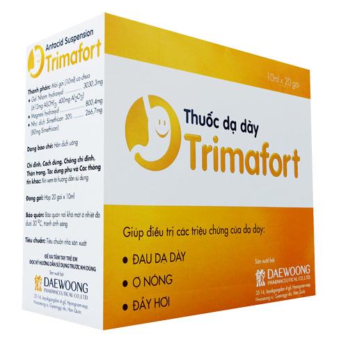 Tác dụng phụ có thể gặp phải khi dùng Trimafort: